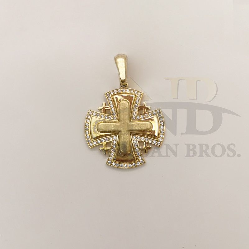 Gold Jerusalem Crosses with Diamonds